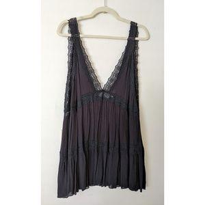 Free People Black Lace Tunic/Dress